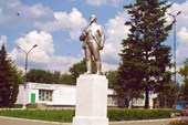 памятник ленину в тербунах